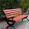 生产定制实木长椅防腐塑木户外休息公园座椅小区园林固定休闲长凳