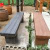 现货水泥仿木长凳仿木长椅户外公园椅子凳子混凝土材质长座椅