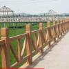 仿木池塘护栏仿木纹栏杆马场围栏鱼塘栅栏公混凝土公路护栏