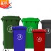 塑料垃圾桶 户外 240l小区街道带轮翻盖式环卫垃圾桶方形厂家批发