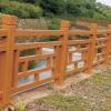 厂家直销水泥 仿木栏杆 河道桥梁护栏 景观园林仿石护栏量大从优