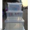 创意家居多功能收纳箱透明整理箱密封防潮收纳箱衣物收纳盒杂物箱