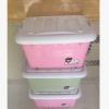 整理箱收纳衣物 收纳箱 彩色滑轮箱 彩色收纳箱带轮
