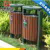 户外公园景区垃圾桶 钢木分类果皮箱 室外新款垃圾桶 果壳箱定制