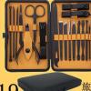 德国工艺指甲刀 家用工具套装 不锈钢指甲剪 修脚刀 美容美甲19件