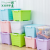 带盖收纳箱批发贴牌塑料整理箱加厚储物箱衣服收纳盒储物箱二件套