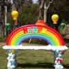 批发彩虹玻璃钢雕塑座椅休闲椅子户外花园商场幼儿园装饰摆件