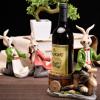 厂家定制卡通兔子红酒架创意欧式家居工艺品餐厅酒柜装饰树脂摆件