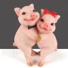 厂家直销爱情小猪树脂工艺品创意家居书房客厅装饰摆件婚庆礼品