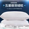 五星级酒店全棉可水洗纯棉枕头 宾馆枕芯全棉防雨布羽丝绒枕芯