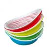厂家直销 环保多彩椭圆形双层滴水盆 创意沥水篮 水果篮 果蔬盘