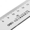 得力/deli 6220塑料直尺 绘图制图工具 学生透明文具尺子20cm厘米
