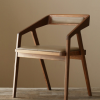 热卖现代简约软垫靠背休闲椅咖啡厅餐厅创意餐椅酒店实木扶手椅子