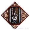 红梅报春仿玉新中式立体浮雕玉雕画现代简约客厅装饰画立体树脂画