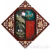 新中式壁画仿玉雕墙画 客厅装饰画浮雕玉雕画现代简约客厅装饰画