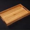 简约家用式竹制大平耳茶盘茶海茶台玻璃茶具