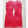 38CM加长红色厨房防水乳胶手套家用酒店清洁手套