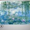 莫奈风景油画装饰画电脑微喷酒店配画无框墙画芯装饰油画