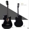 38寸黑色民谣木吉他初学者男女学生练习乐器