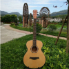云杉沙比利正桶吉他 博吉善40寸木吉他