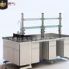 钢木中央实验台山西带试剂架水槽实验桌太原实验室实验台厂家