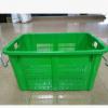 生产海南海口东方塑胶周转萝690*480*370带铁耳加厚塑料筐漏水框