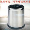 厂家热销双层无盖酒店垃圾桶小号 不锈钢垃圾桶圆形现货供应