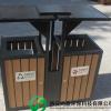西安鸿晨环保塑木厂家 供应陕西地区 塑木垃圾桶 户外垃圾桶条