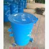 山东省济宁市环卫挂车垃圾桶挂车大铁桶镀锌垃圾桶240L量大优惠