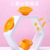 婴儿喂养餐具用品 宝宝辅食餐具硅胶勺子学习筷吸盘碗工厂直销