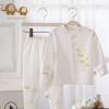 春秋纯棉0-2岁婴儿内衣 开衫内衣内裤 长袖宝宝内衣套装 一件代发