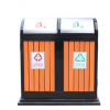 户外分类垃圾桶防腐木垃圾桶 定制加工环卫果皮箱户外垃圾桶