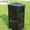 欧式户外铸铁垃圾箱景区花园铸铝垃圾桶 户外垃圾桶楼盘垃圾箱