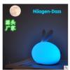 3life新款厂家兔子七彩小夜灯USB充电创意情趣硅胶便携床头台灯