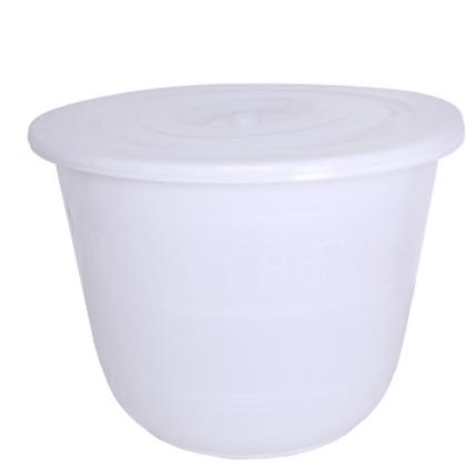 2018新款圆形塑料水桶 加厚带盖储水缸酿食品篓收纳桶 酿酒发酵缸